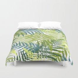 Fern frond seamless pattern Duvet Cover