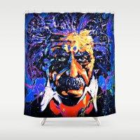 einstein Shower Curtains featuring Einstein by FEENNX