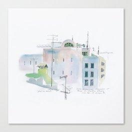 Lisbon Aquarelle No.3 Canvas Print