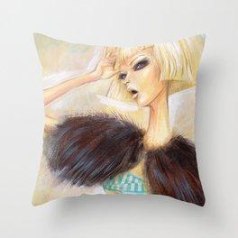 Fashion in White 2 Throw Pillow