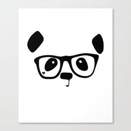 Hipster Nerd Panda Canvas Print