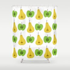 Apple and pear pattern Shower Curtain