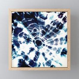 Tie Dye Sunburst Blue Framed Mini Art Print