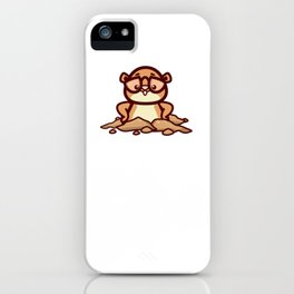 Funny Retro Groundhog Lover Gift design iPhone Case
