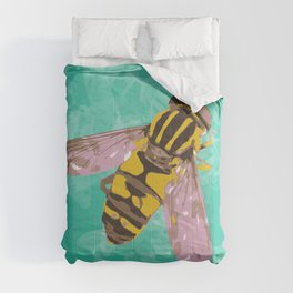 Hoverfly vector illustration Comforters
