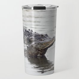 Two large alligators in Florida lake Travel Mug