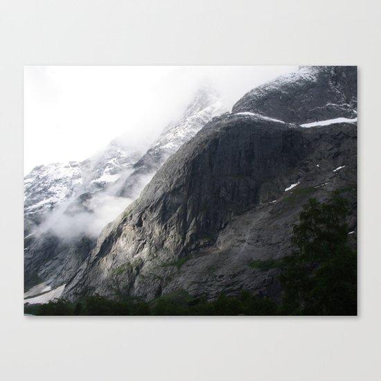 Mountain landscape #norway Canvas Print