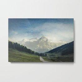 the Italian Alps - Sunlit Suretta Massif Metal Print