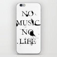 No music no life iPhone & iPod Skin