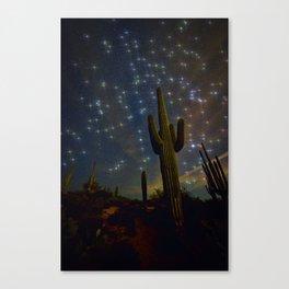 A Starry Desert Evening Canvas Print