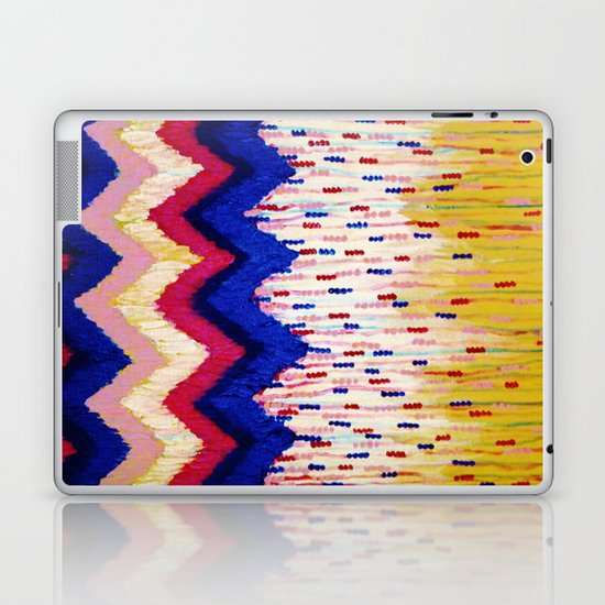 SHINE ON, Revisited - Americana Red White Blue USA Abstract Acrylic Painting Home Decor Xmas Gift Laptop & iPad Skin