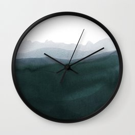 mountain horizon 3 Wall Clock