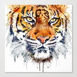 Tiger Face Close-up Canvas Print
