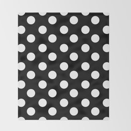 Polka Dot (White & Black Pattern) Throw Blanket