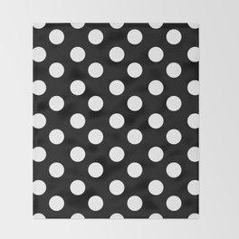Polka Dot (White & Black Pattern) Throw Blanket