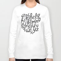 alphabet Long Sleeve T-shirts featuring ALPHABET by Kiley Victoria