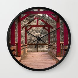 Covered Bridge Park - Pedestrian Bridge Wall Clock