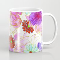 oriental Mugs featuring Oriental blossom by Federico Faggion