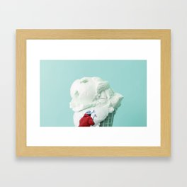 Ice climbing Framed Art Print
