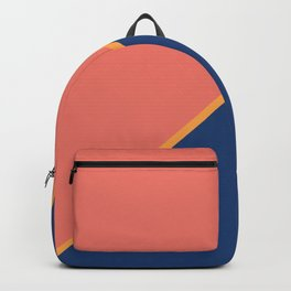 Pink & Rare Purple - 2 color oblique Backpack