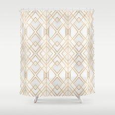 Golden Geo Shower Curtain