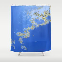 Orencyel : sky gazing before this golden melody Shower Curtain