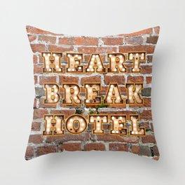 Heart Break Hotel - Brick Throw Pillow