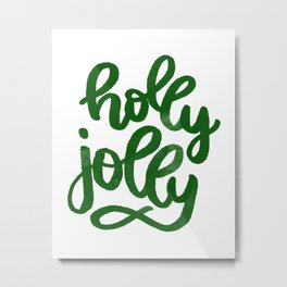 holly jolly green color for Christmas. Metal Print