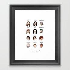 Gilmore Girls Mood Chart Framed Art Print