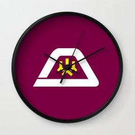 yamanashi region flag japan prefecture Wall Clock