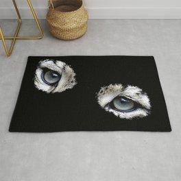 Snow leopard eyes, big cat fan, leopard lover Rug