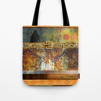 western Tote Bags featuring GOLDEN WESTERN by VIAINA