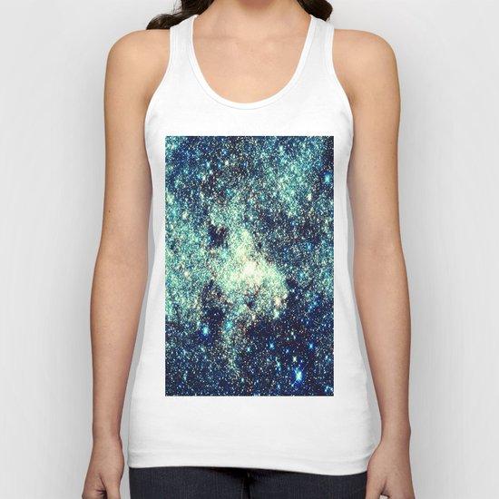 gAlAxY Stars Teal Turquoise Blue Unisex Tank Top