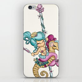 Saucy Sea Horse iPhone Skin
