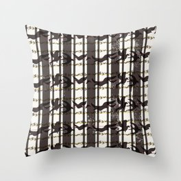 bird plaid Throw Pillow