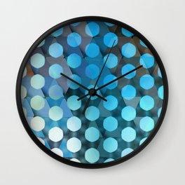 Circles on Triangles Ocean Blues Wall Clock