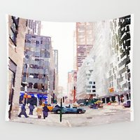 nyc Wall Tapestries featuring NYC by Christine Workman