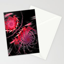 flames on black -501- Stationery Cards
