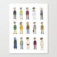 will ferrell Canvas Prints featuring Ferrells by Justyna Wycislak