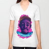 tyler the creator V-neck T-shirts featuring Tyler The Creator II (Pink) by ASHUR Collective™