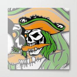 Pirate + Carrot = PAROT Metal Print
