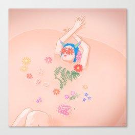 Flower Bath Canvas Print