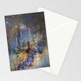 Star map version: The Milky Way and constellations Scorpius, Sagittarius and the star Antares. Stationery Cards