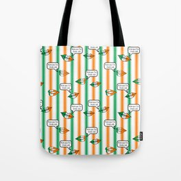 kiss me i'm irish-ish stripes Tote Bag