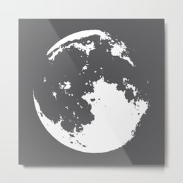 abstract moon Metal Print