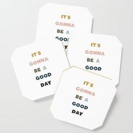 Good Day - Retro Rainbow Coaster