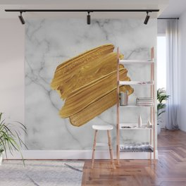 Gold on Marble Wall Mural