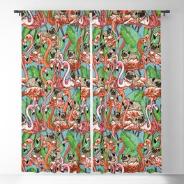 Flamingo Party Blackout Curtain