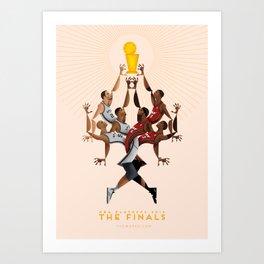 NBA PLAYOFFS 2014 - THE FINALS Art Print