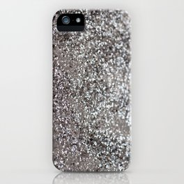 Sparkling SILVER Lady Glitter #1 #decor #art #society6 iPhone Case